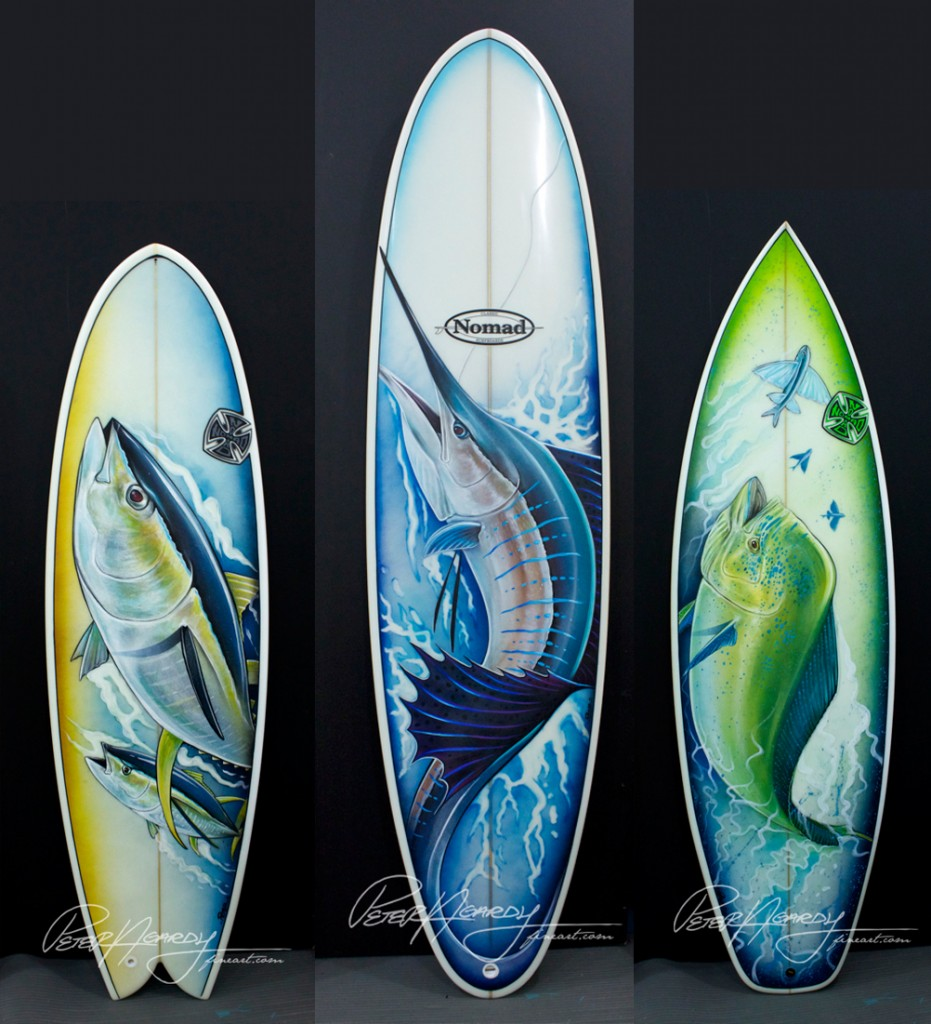 Fish art, Surfboard fish, Tuna Fish, Yellowfin Tuna, Tuna Painting, Tuna art, Yellowfin tuna art, Mahi Mahi, Dorado, Mahi art, Mahi painting, Sailfish, Sailfish art, Sailfish painting