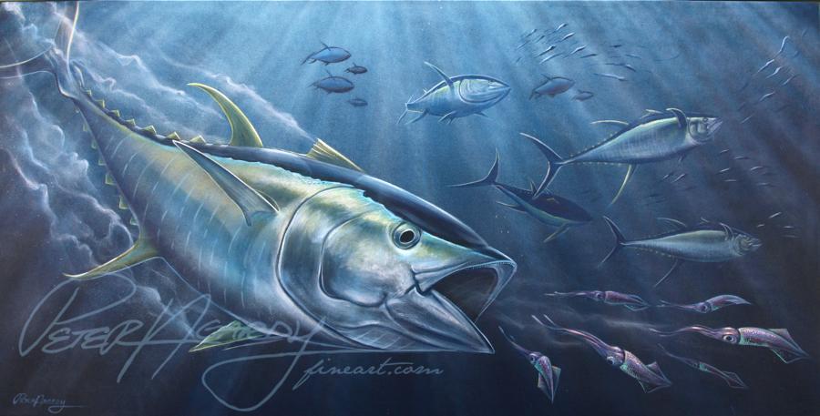 New Yellowfin Tuna Painting